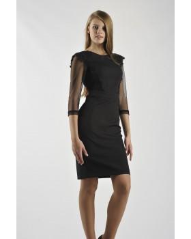 Сукня чорна з бантом на спині