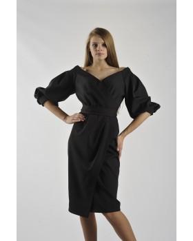 Сукня святкова чорна з елегантним розрізом