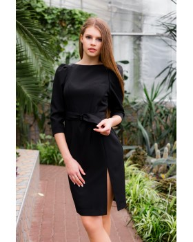 Сукня чорна з розрізом на нозі