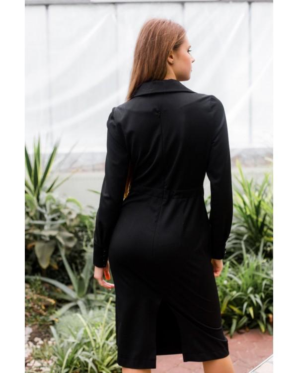 Сукня чорна з накладною кишенею