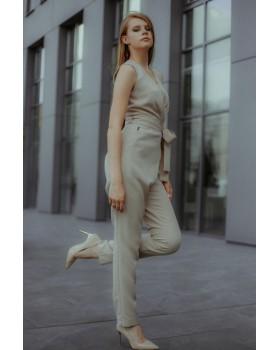 Комбінезон бежевий брюки зі складами