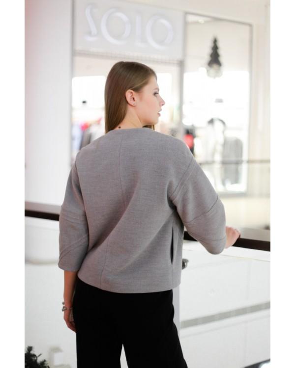 Куртка сіра з опущеною лінією плеча