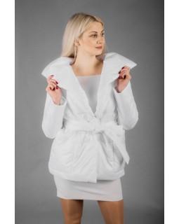 Куртка молочна з коміром