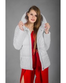Куртка молочна прямого силуету