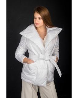 Куртка молочна під пояс