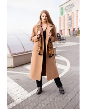 Пальто коричневе класичне