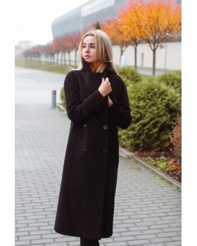 Пальто чорне класичне
