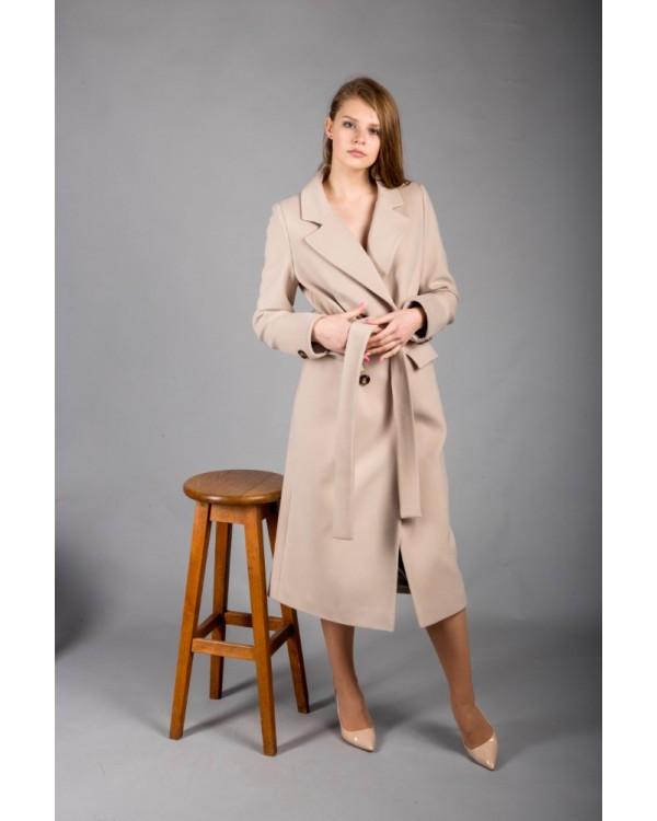 Пальто бежеве класичне
