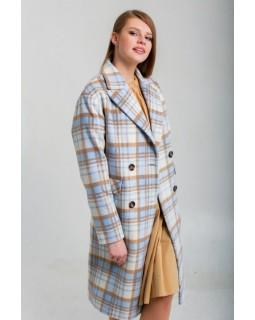 Пальто в голубу клітку
