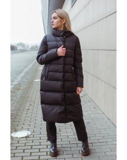 Пуховик чорний зимовий