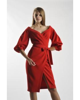 Сукня святкова червона на запах