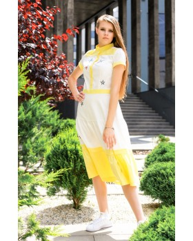 Сукня - сорочка жовта