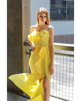 Сукня жовта на тонких бретелях