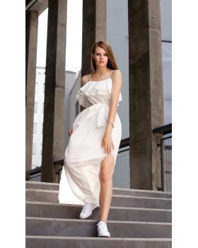 Сукня молочна на бретелях