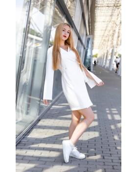 Сукня молочна з відлітним рукавом