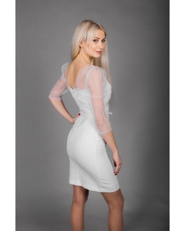 Сукня молочна верх сіточка