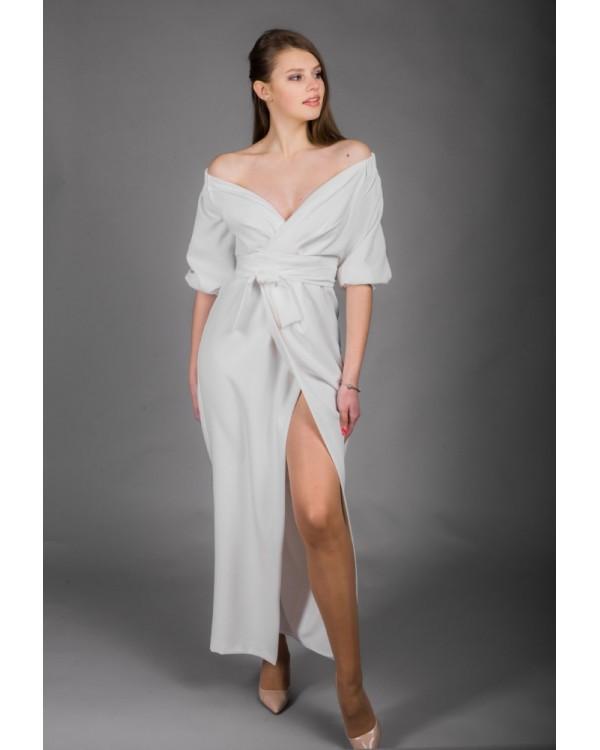 Сукня молочна з розпіркою