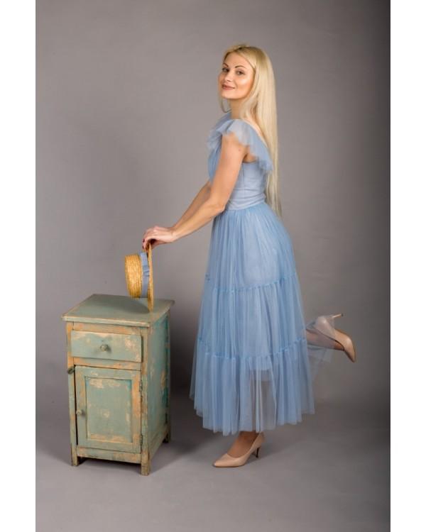 Сукня голуба із сіточки
