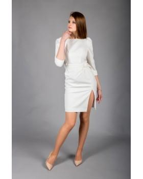 Сукня молочна з поясом