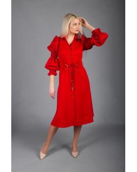 Сукня червона на довгий рукав