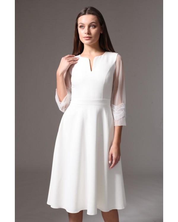 Сукня святкова молочна спідниця міді