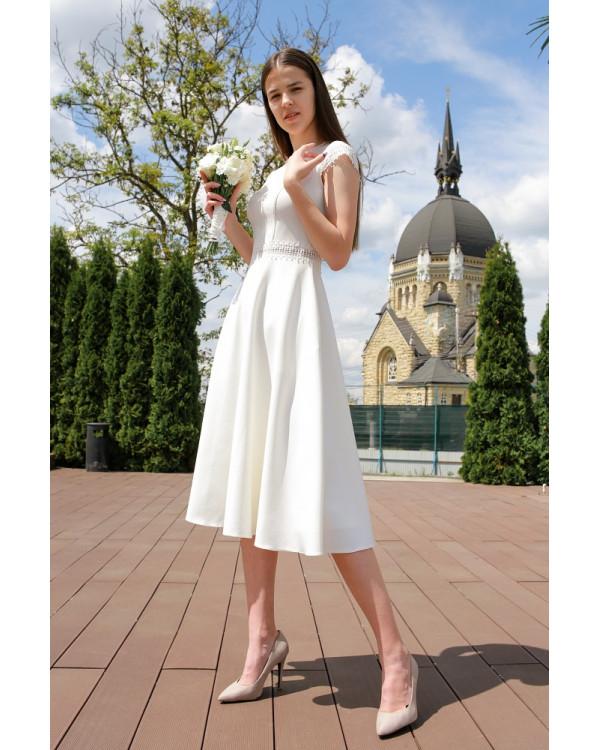 Сукня  з декоративною вставкою