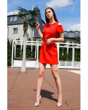 Сукня з накладними кишенями