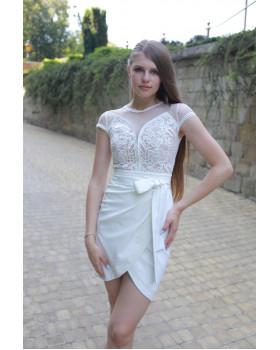 Сукня міні верх оздоблений мереживом