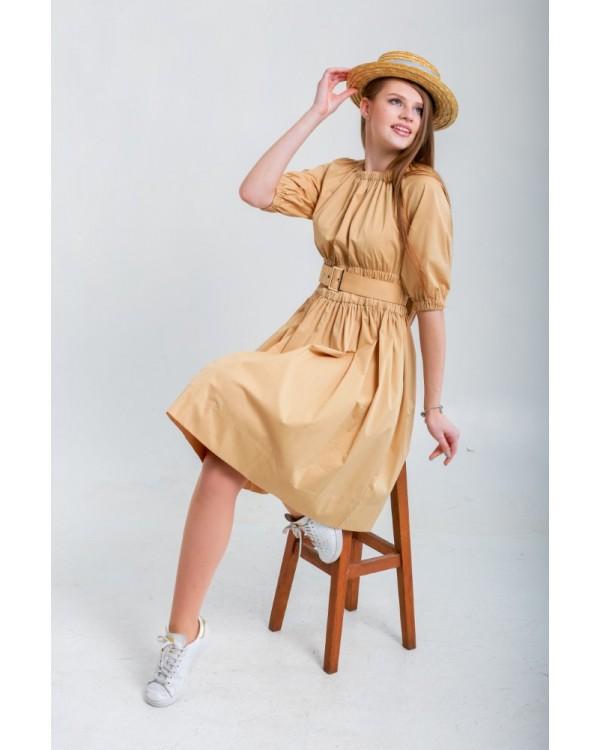 Сукня з рукавами на резинках