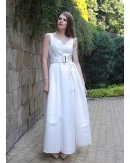 Сукня довга під пояс
